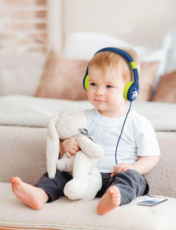 Zelená sluchátka dětská MPOW