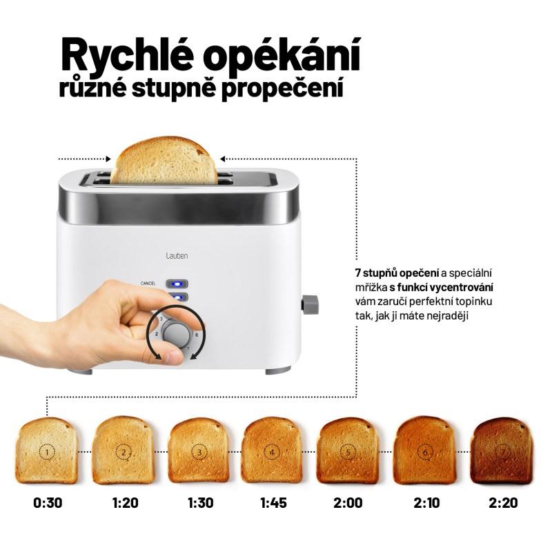 7 stupňů opékání pečiva