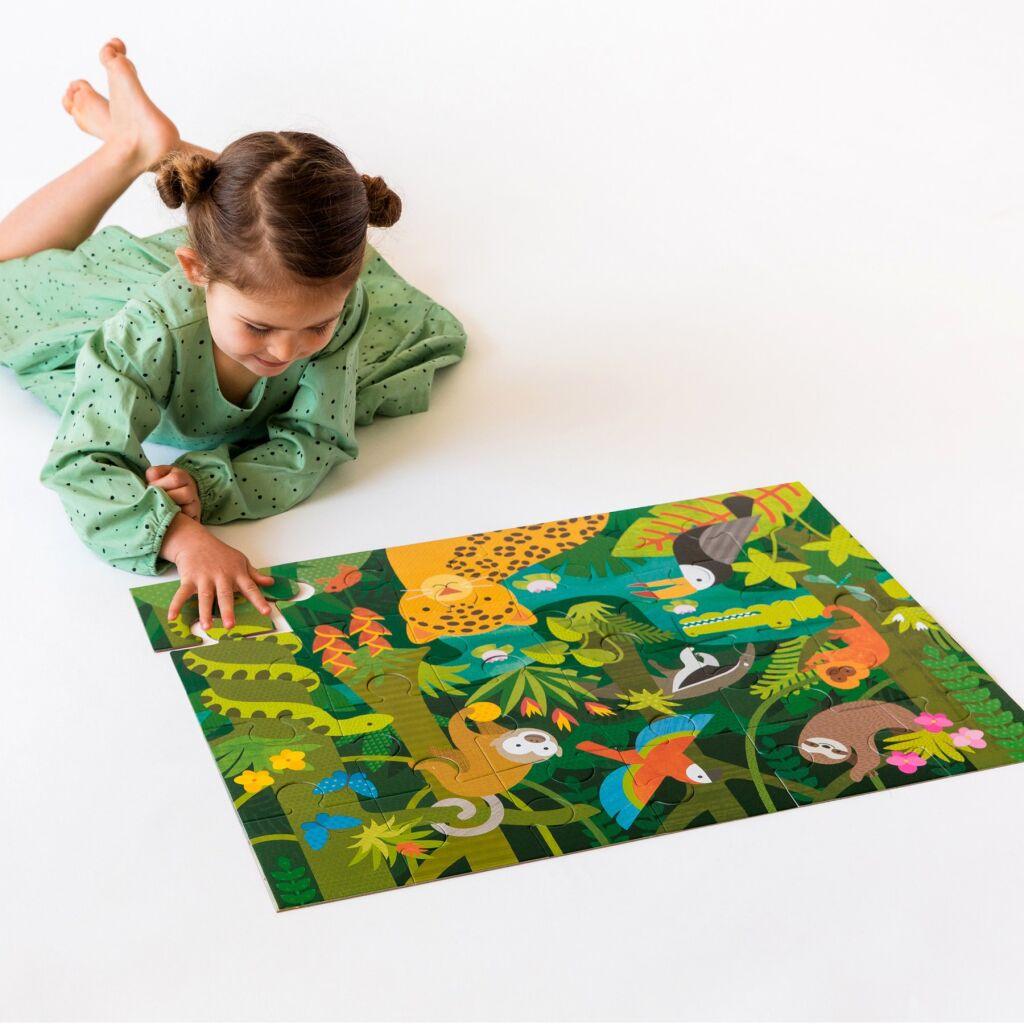Podlahové puzzle děštný prales