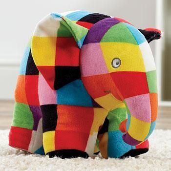 Plyšový slon Elmer