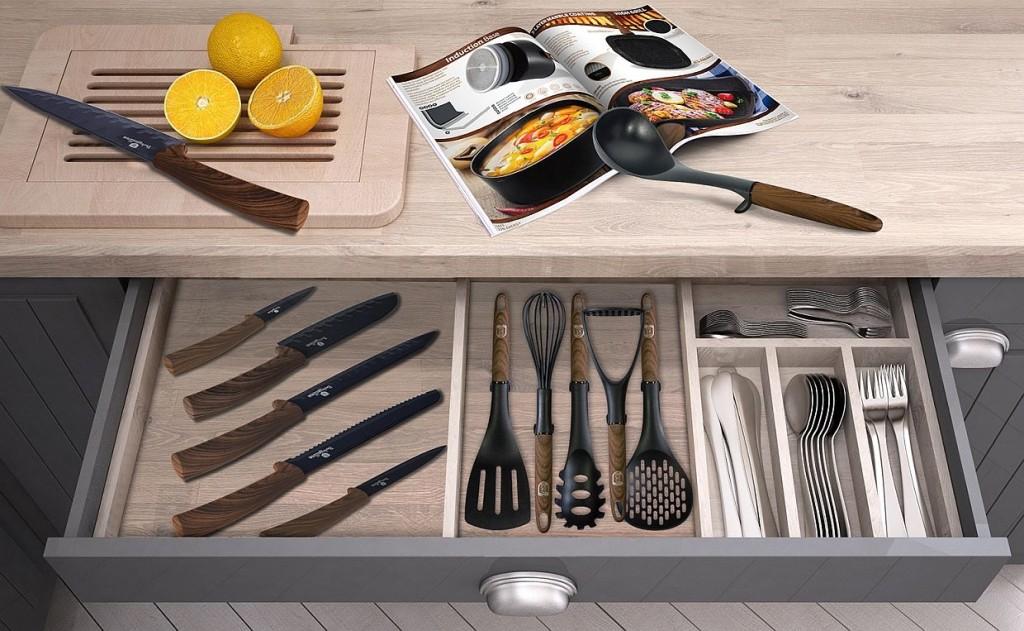 Kuchyňské náčiní 4 ks kolekce Ebony Line Rosewood