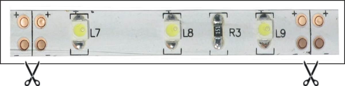 Stříhání LED pásku