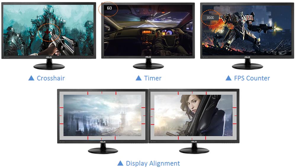 herní doplňky monitoru Asus