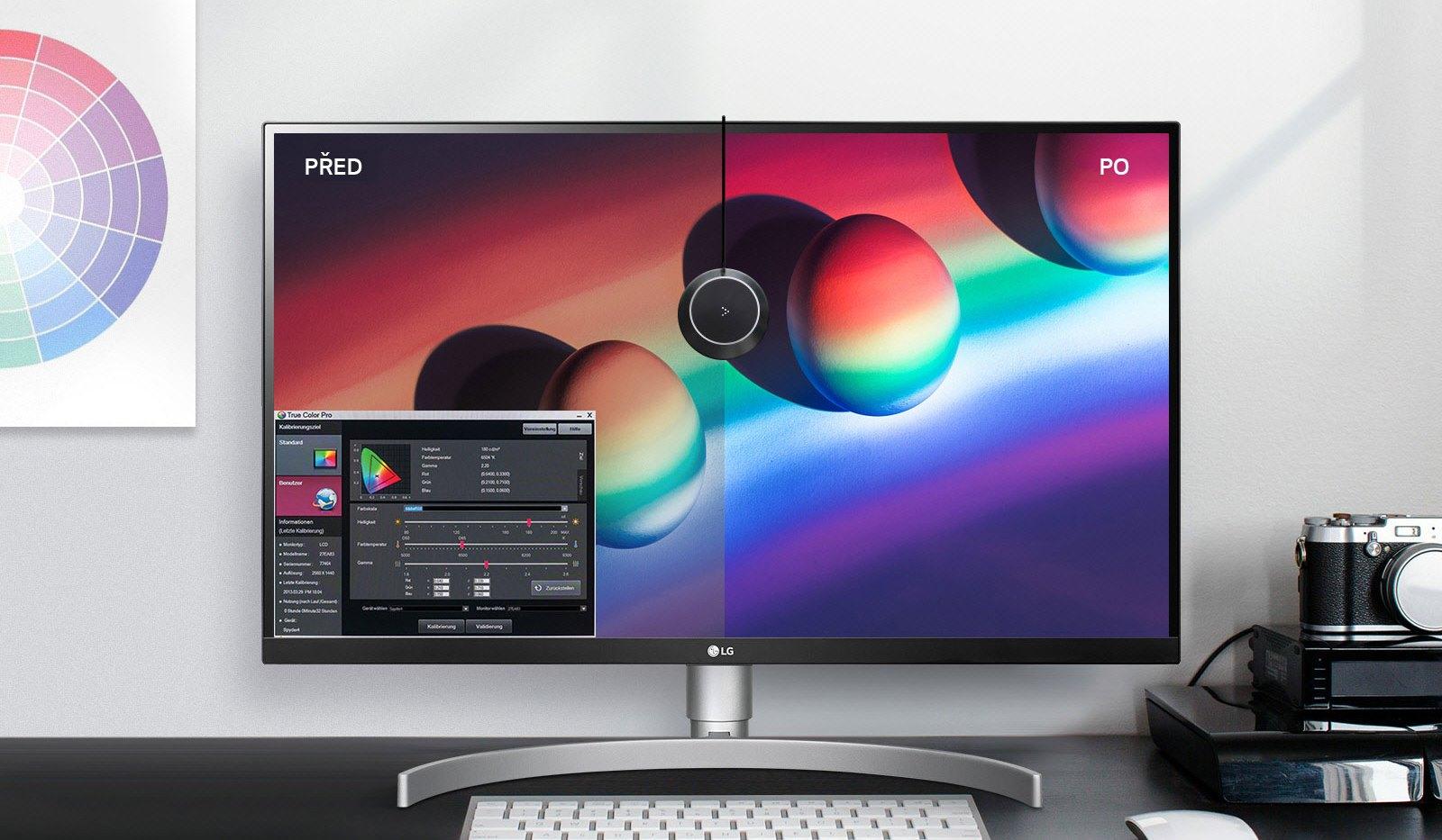 True Color Pro umožňuje optimalizovat zobrazení barev