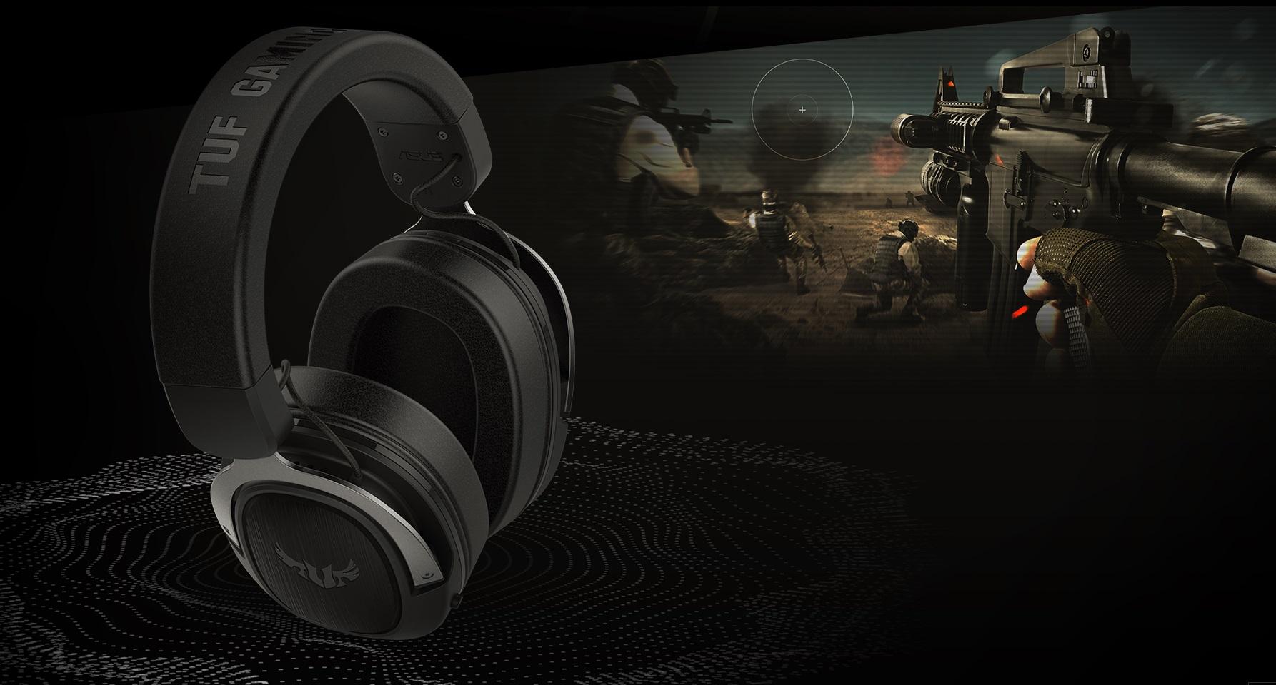 Sluchátka Asus TUF Gaming se pyšní virtuálním 7.1kanálovým 3D zvukem Windows Sonic!
