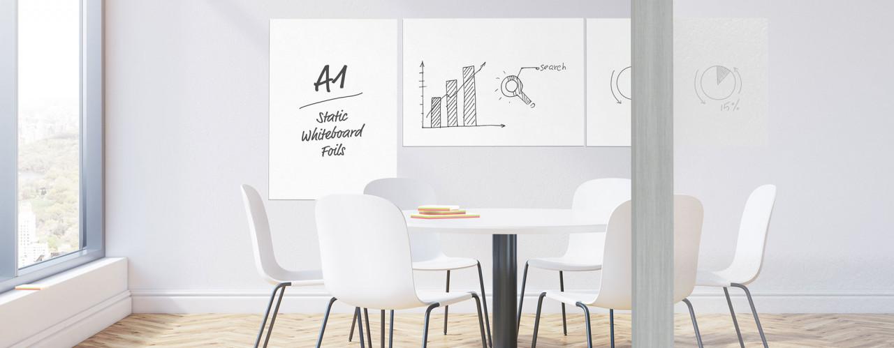 Fólie Magnetoplan na popis popisovačem, 84,1 x 59,4 cm, samolepící, bílá, 5ks
