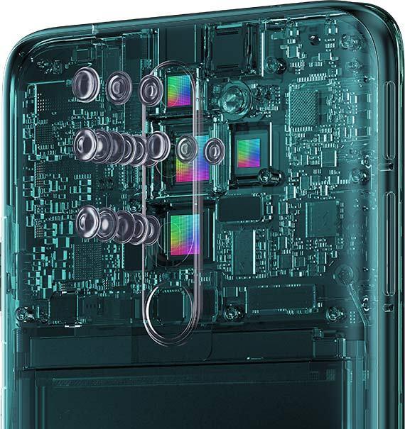 4násobný fotoaparát na zadní straně telefonu