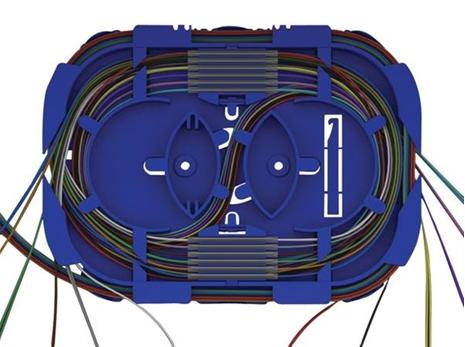 Optická kazeta pro 24 svárů, transp. víčko,2x výklopné držáky na 12svárů OPTRONICS