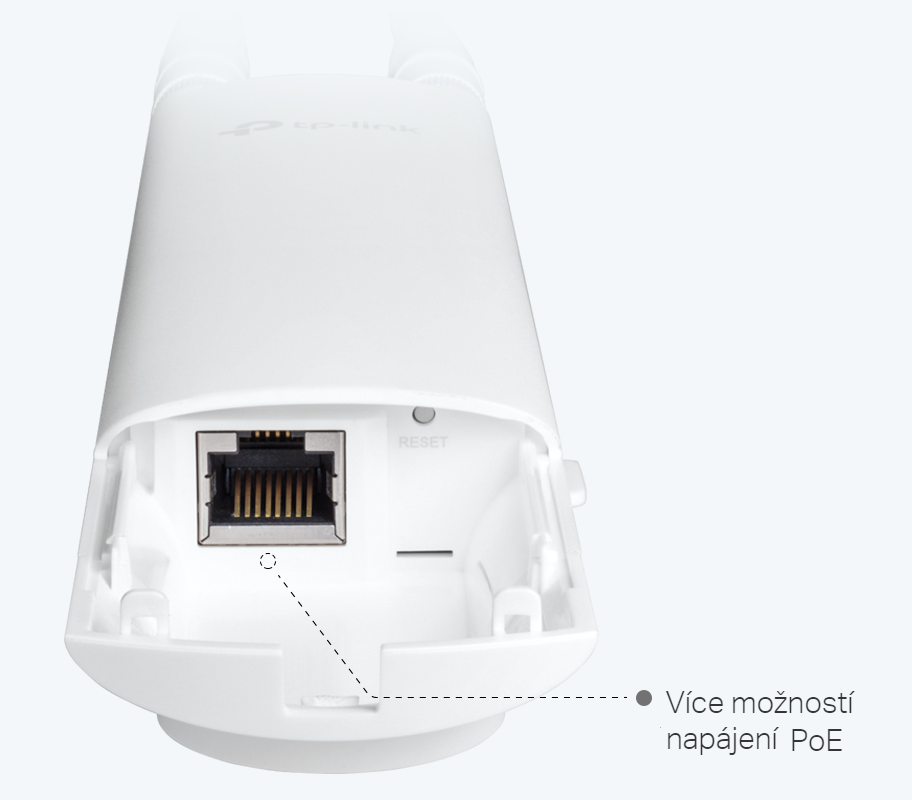 WiFi router TP-Link EAP225-outdoor venkovní AP/client/bridge/repeater, 1x Gigabit WAN, 2,4 a 5 GHz, AC1750
