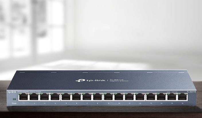 Switch TP-Link TL-SG116 16x GLan, kov