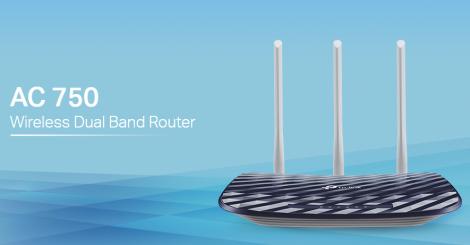 WiFi router TP-Link Archer C20(ISP) AC750 dual AP/router, 4x LAN, 1x WAN/ 300Mbps 2,4/ 433Mbps 5GHz + dárek IP TV zdarma