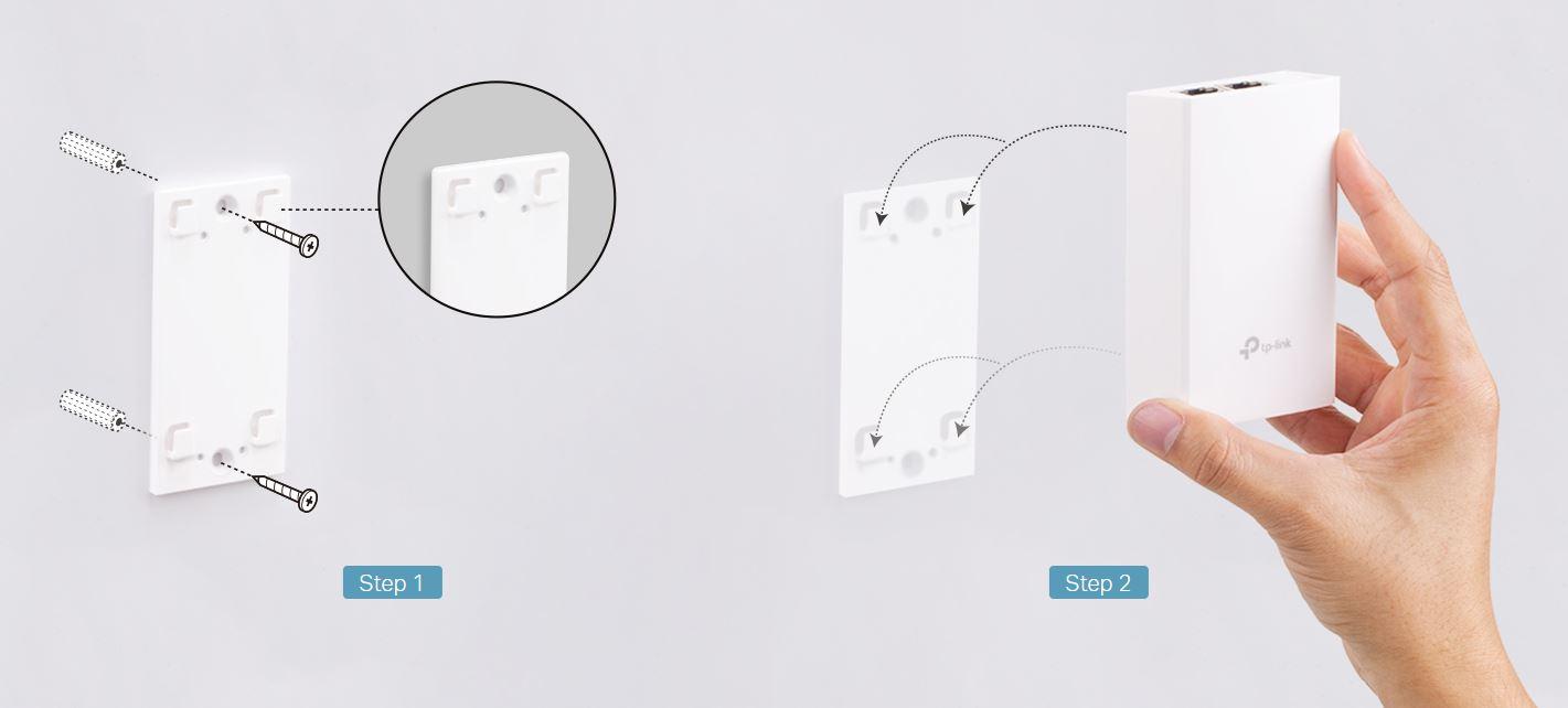 přišroubujte konzoli ke stěně a jednoduše nacvakněnte adaptér