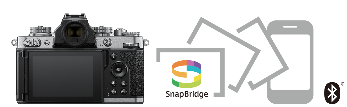 Nikon Z fc je možné ovládat pomocí mobilní aplikace SnapBridge pro iOS a Android.