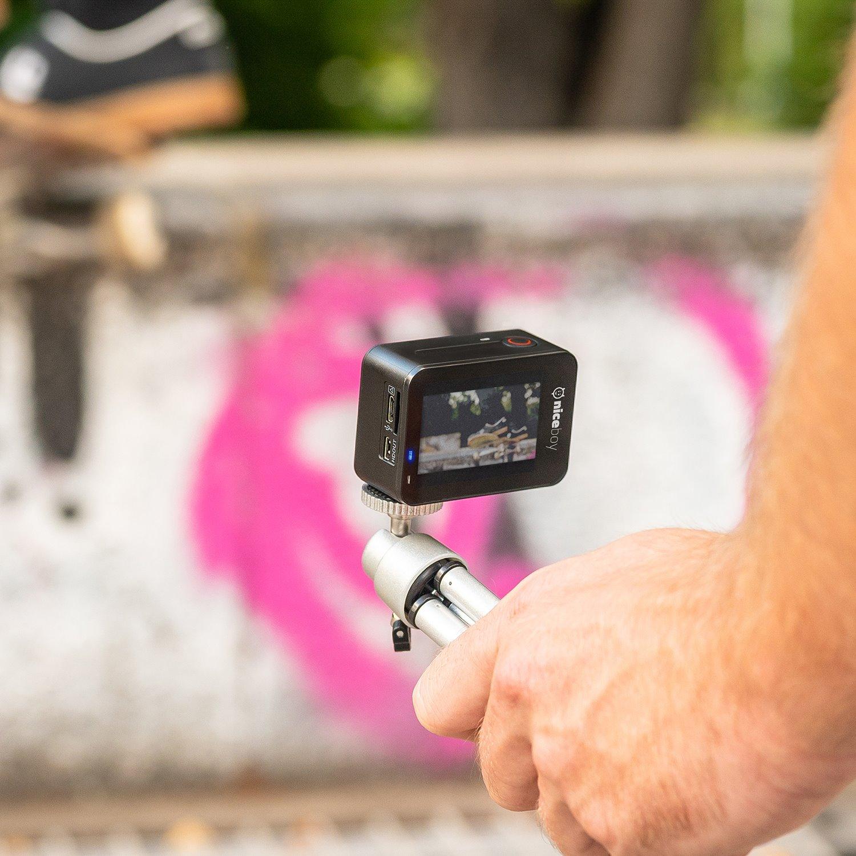 Kamera Niceboy VEGA X na stativu