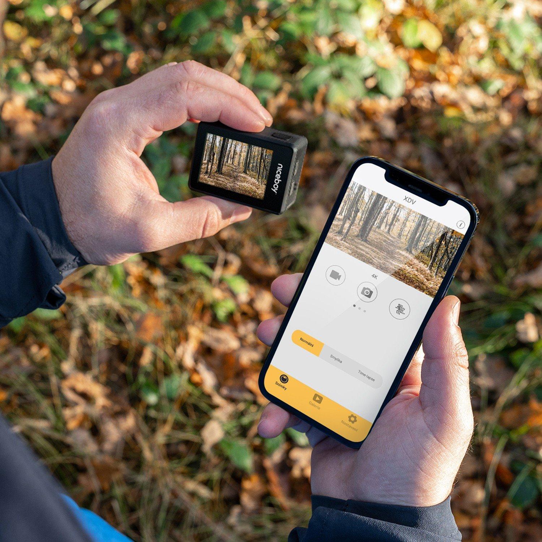 Mobilní aplikace pro ovládání kamery Kamera Niceboy VEGA X Play přes WiFi