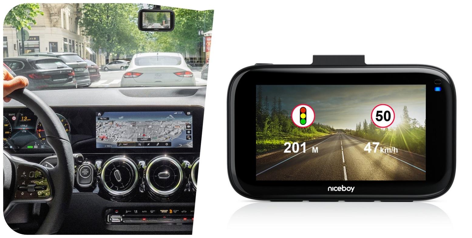 Mezi hlavní přednosti autokamery Niceboy Pilot Q9 patří rozlišení až 4K při 30 snímcích za sekundu, neustále aktualizovaná databáze radarů a měření ve více než 30 evropských zemí.
