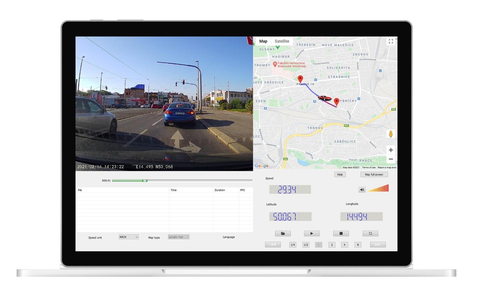 Ovládání autokamery je Niceboy Pilot Q9 je realizováno pomocí mobilní aplikace nebo pomocí 3palcového IPS displeje.