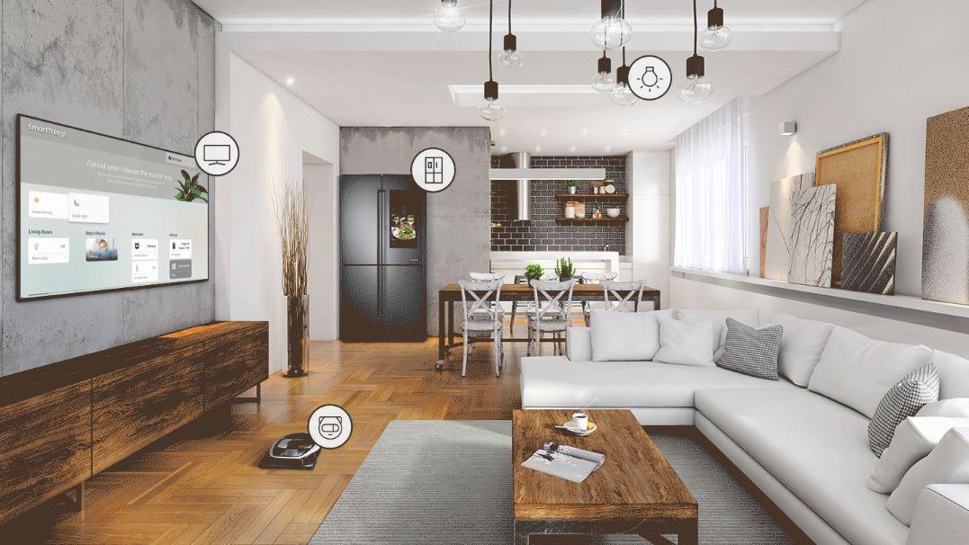 chytrá domácnost propojená se smart TV