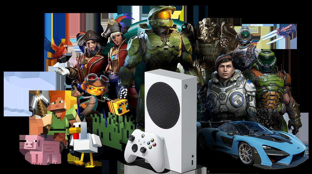 S Xbox Series S máte k dispozici tisícovky rozličných herní titulů, jako je Halo Infinite, Gears 5, Cyberpunk 2077 či Assassin's Creed Valhalla!