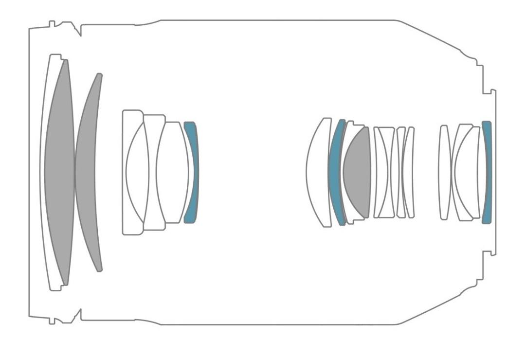 ukážka detailu objektívu TAMRON 35 - 150 mm F / 2.8 - 4 Di VC OSD pre Nikon