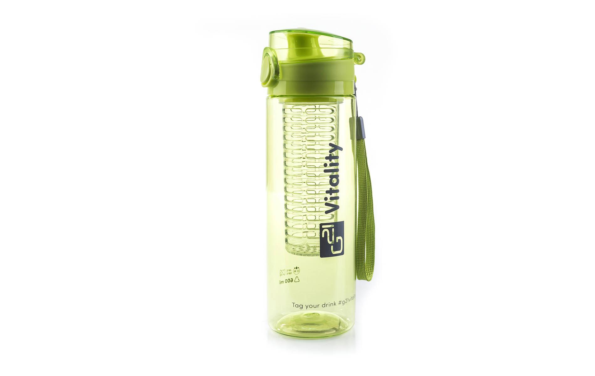 Zelená láhev G21 na smoothie/juice má objem 600 ml