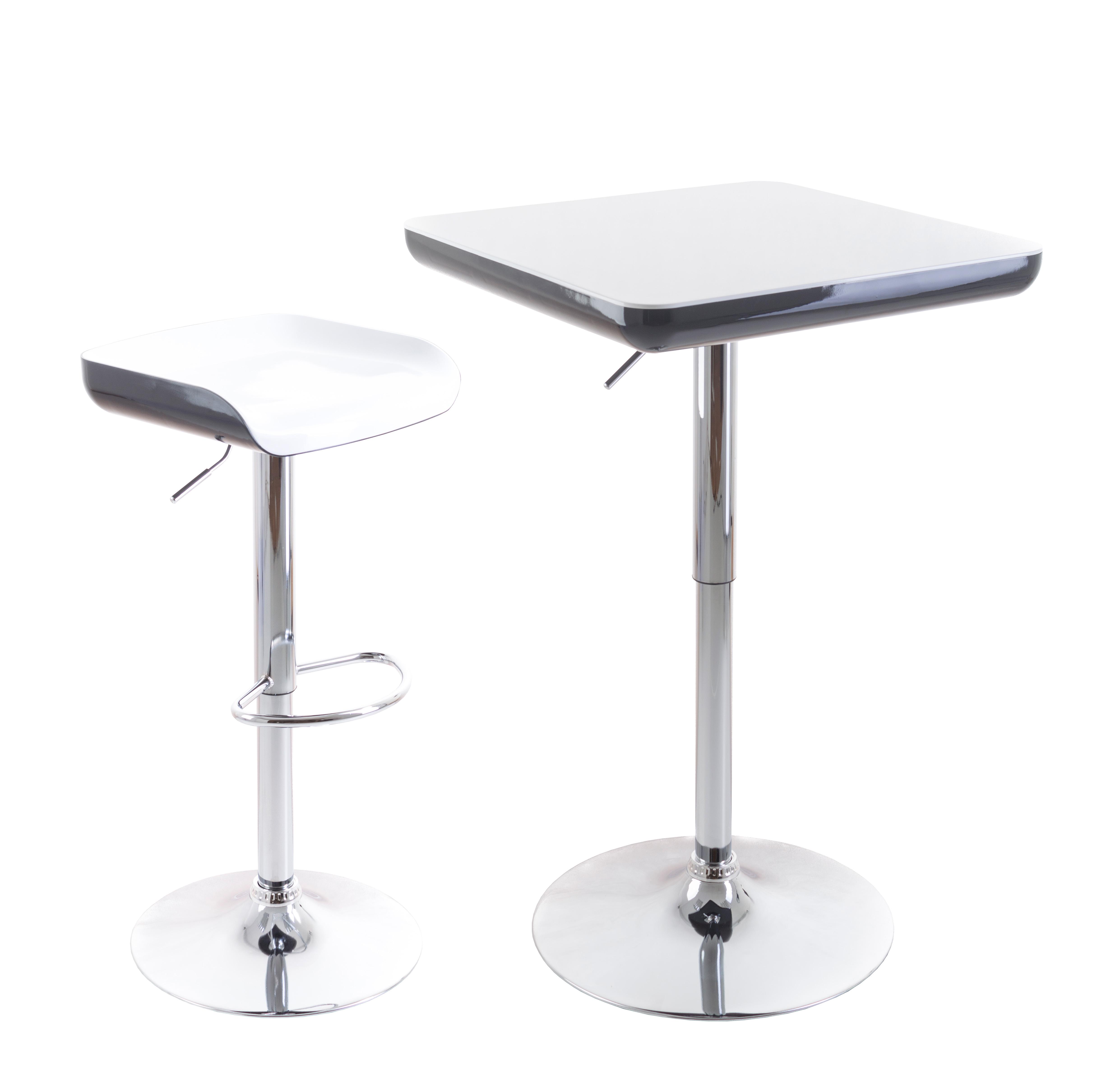 barový stolek G21 s barvou židlí G21 na bílém pozadí