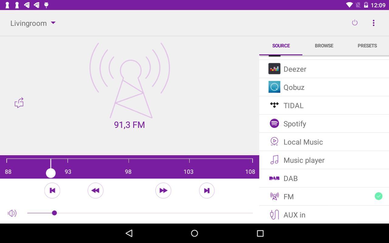 Prehrávanie obsahu zo Spotify, Tidal, Deezer, Amazon Music Prime, Napsteru alebo z iných hudobných streamovacích služieb.