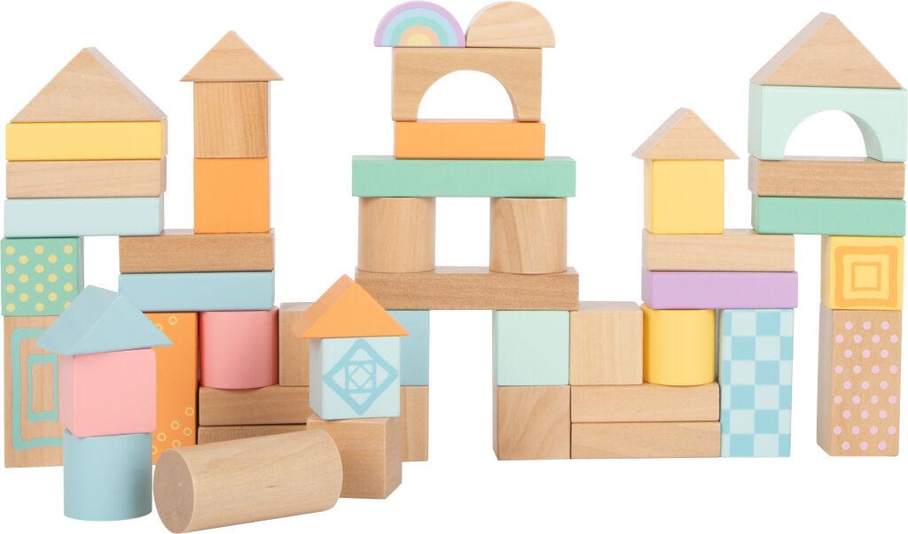 50 ks drevených pastelových kociek