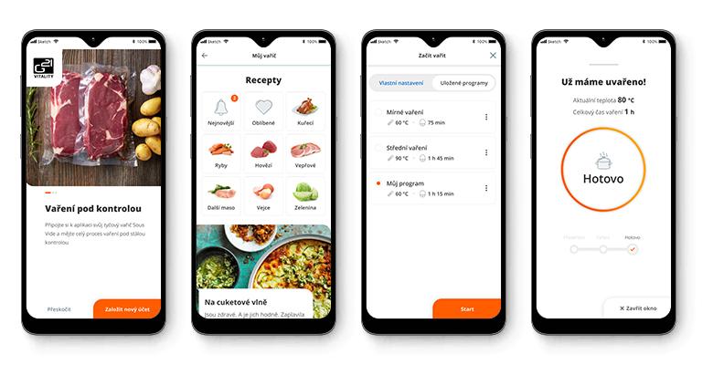 V aplikaci G21 Smart Home si vyberete recept, který chcete připravit a spustíte proces. O víc se starat nemusíte.