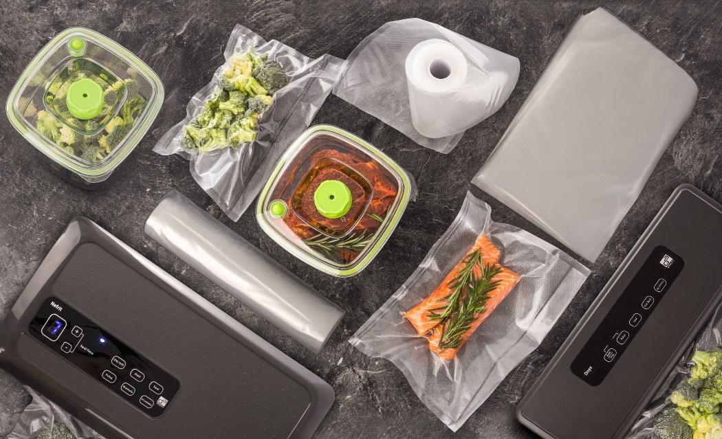 Vakuovací sáčky a fólie pro vakuovací svářečky G21 Nefrit a G21 Onyx. Zavakuované maso a zelenina.