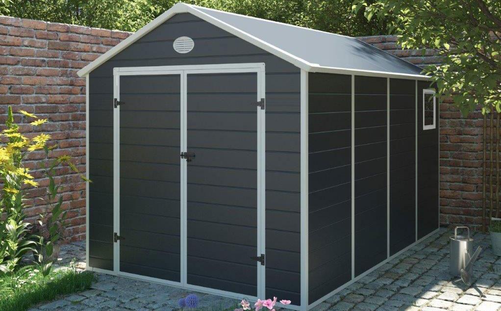 Záhradný domček G21 PAH 882 na dlažbe