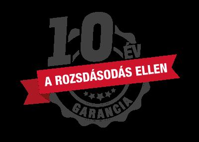 10 éves rozsda garancia