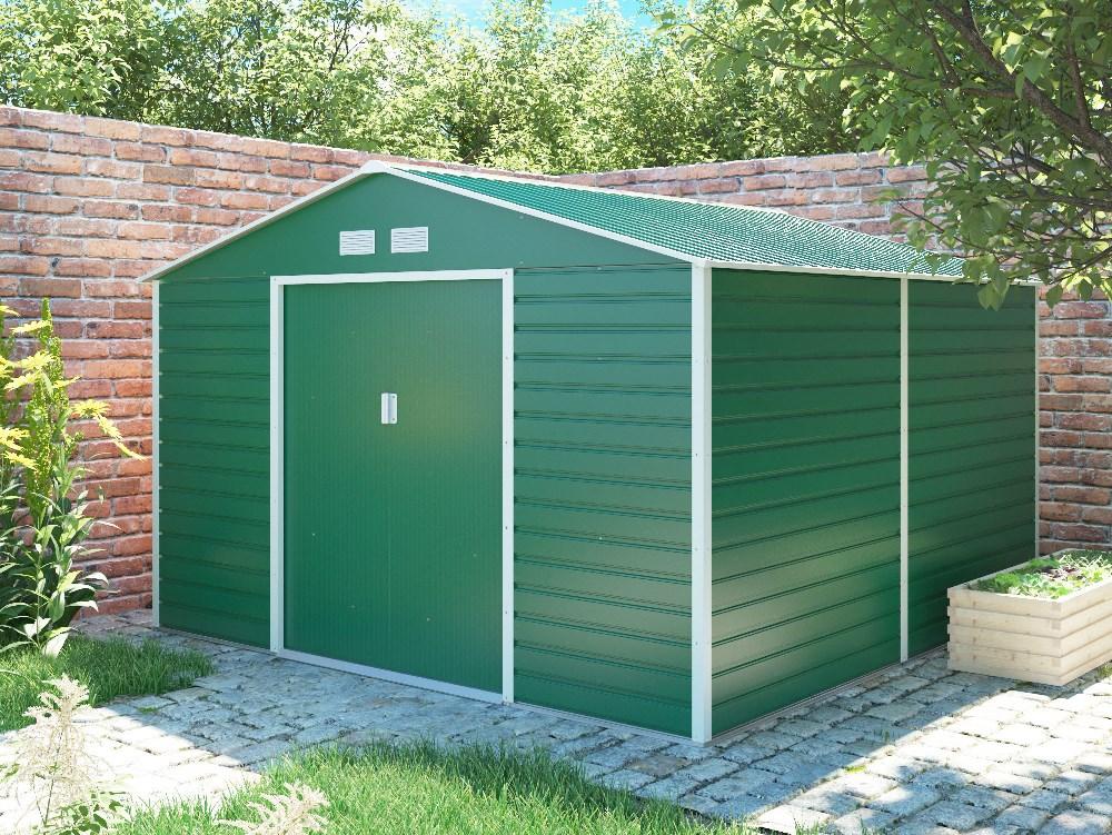 záhradný domček g21 gah 1085, zelený