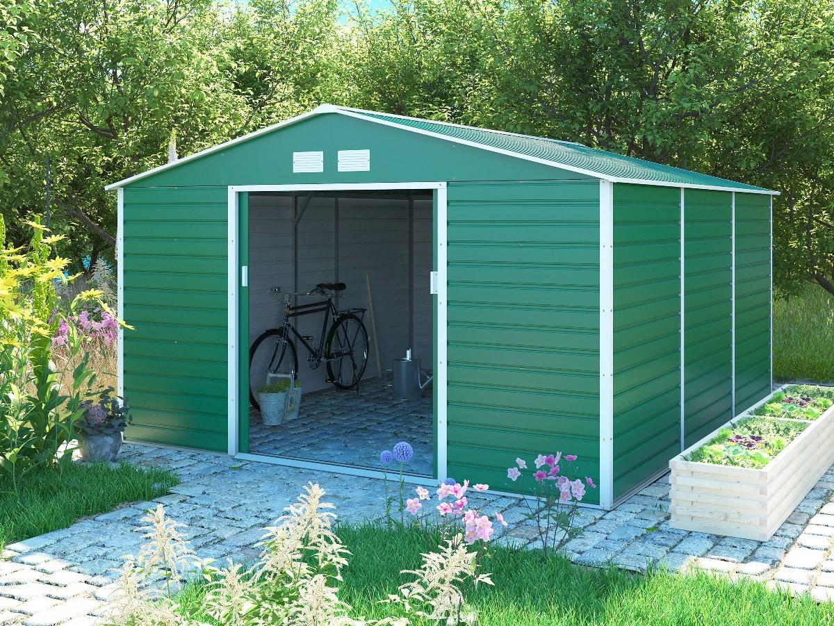 zahradní domek g21 gah 1300, zelený