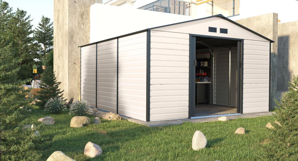 zahradní domek g21 gah 1300, béžovo šedý
