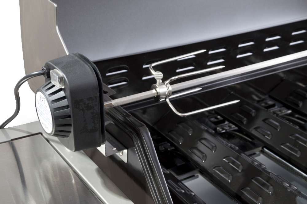 Motorček v plastovom kryte a ihla grilu G21 Mexico BBQ Premium line
