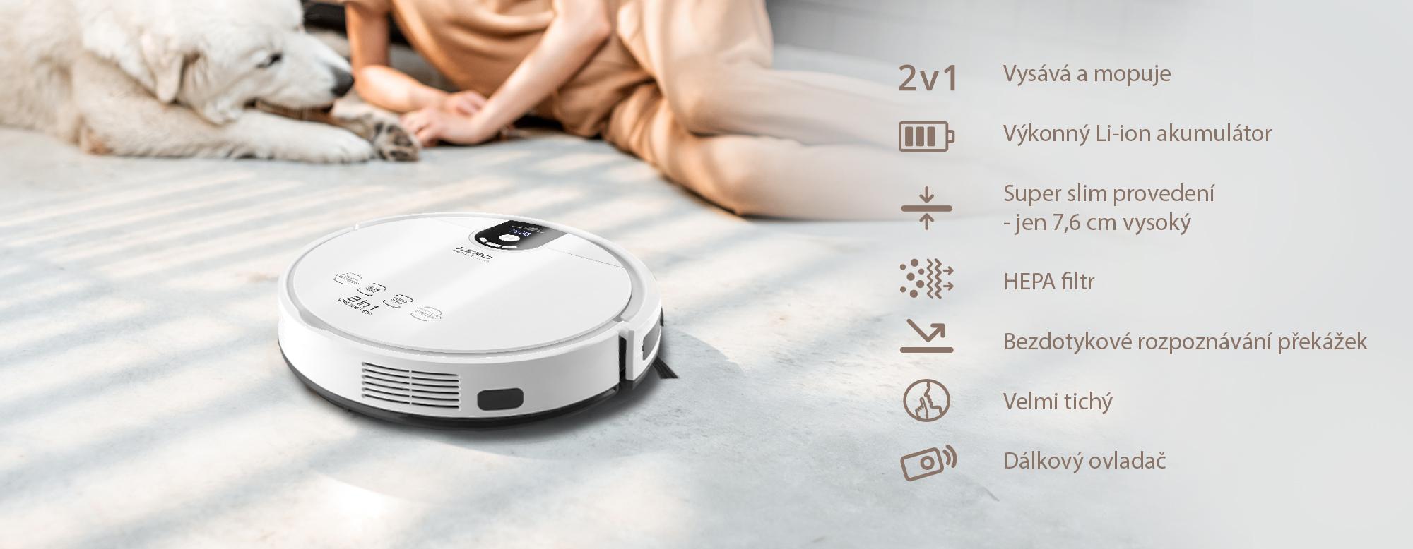Praktický robotický 2v1 vysavač ETA Zero se postará o kompletní úklid vaší domácnosti či kanceláře