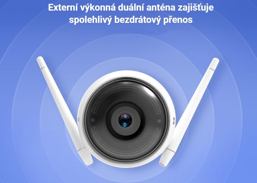 Kamera Ezviz Husky Air 720P mikrofon, repro, stroboskop + siréna; obj. 2,8mm