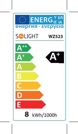 energetická spotřeba E27 WZ523