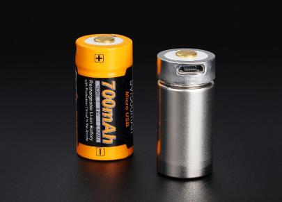 Baterie Fenix nabíjecí Li-lon USB 16340 / RCR123A 3,6 V / 700 mAh