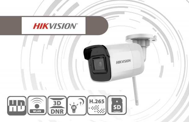 Kamera Hikvision DS-2CD2021G1-IDW1/2,8 2 Mpix DWDR+ICR+IR; Wi-Fi; obj. 2,8mm