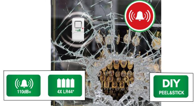 Alarm iGET HOMEGUARD HGWDA522 minialarm s detekcí vibrací, set 2 ks