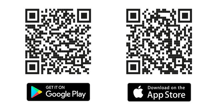 QR kódy pro aplikaci G21 Smart Home