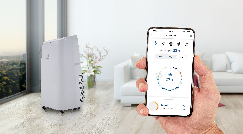 Aplikace pro ovládání klimatizace G21 Envi přes WiFi